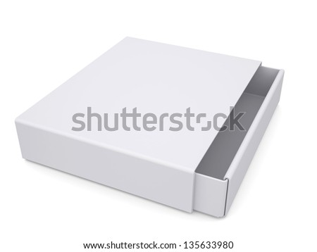 Open white box. Isolated render on a white background