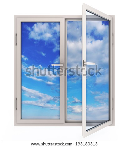 Open window with view of the sky (done in 3d)