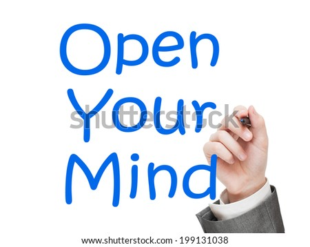 Open Your Mind Concept isolated on white background - stock photo