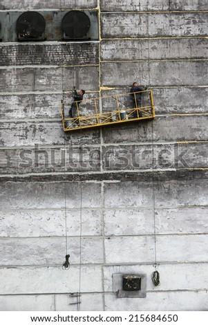 opencast mine excavation - stock photo