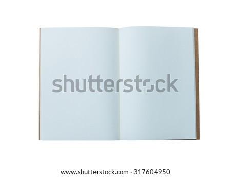 Opened blank catalog,brochure, magazines,book mock up isolated on white background - stock photo