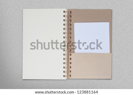 Opened book on metal background - stock photo