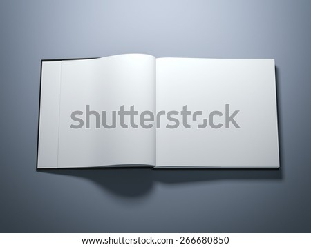 Opened book with blank pages  - stock photo