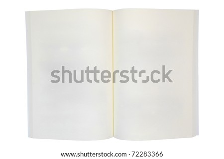Opened book with blank pages isolated - stock photo