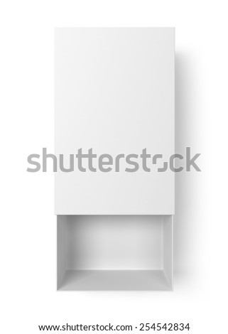 Opened box. 3d illustration isolated on white background  - stock photo