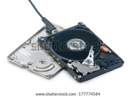 Opened Computer Hard Drive in work