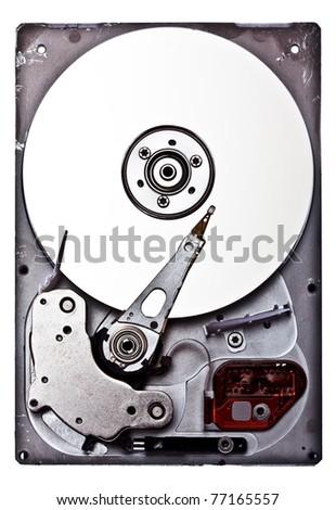 Opened harddisk - stock photo