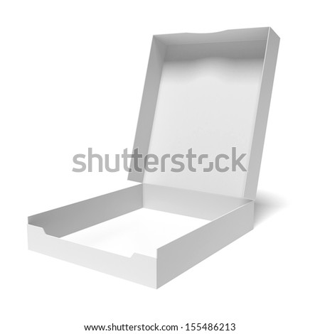 opened package isolated on white