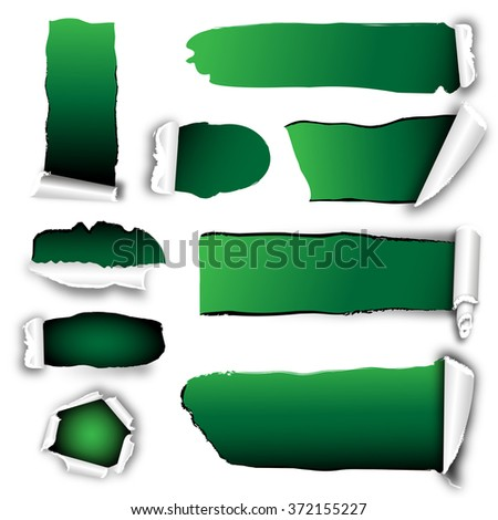 opened paper with green background