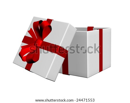 opened present box for gift