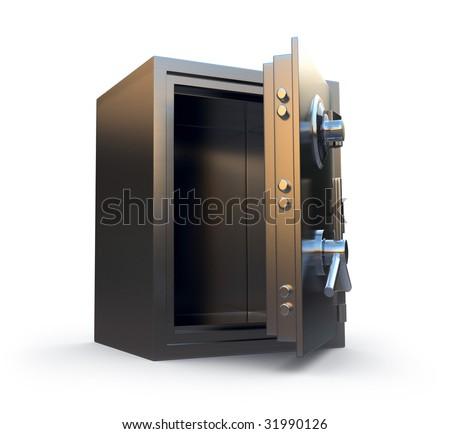 Opened safe - stock photo