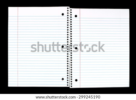 Opened Spiral Notebook