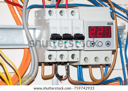stock photo opened switch box with electrical fuse blows one wire is burnt 759742933 blow a fuse stock images, royalty free images & vectors shutterstock switch box fuse connection 2006 lexus gs300 at mifinder.co