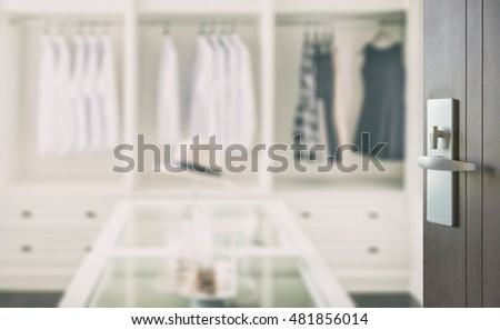 Black dress 40s style interior closet door