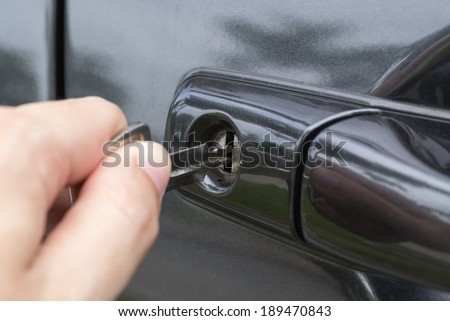 opening a car with a key