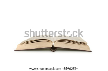 opening book isolated on white