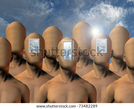 Openings to mind - stock photo