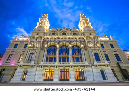 Opera House in Monte Carlo Monaco, Cote de Azul, Europe.  - stock photo