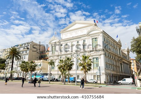 Opera house Nice Cote d'Azur riviera France - stock photo