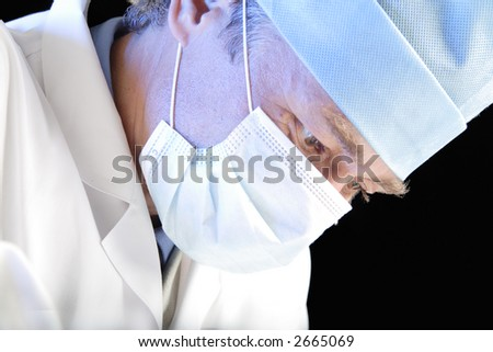 Operation in a process. Isolated with clipping path. - stock photo