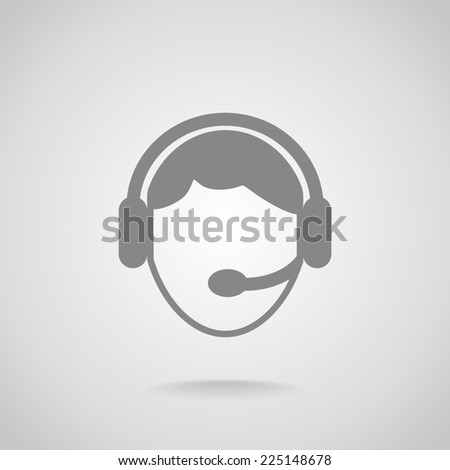 operator in touch Web icon. - stock photo