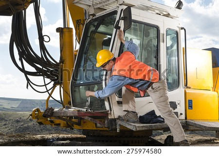 Operator on Construction Vehicle