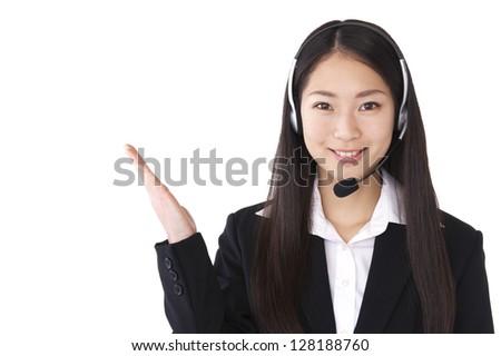 Operators will guide - stock photo