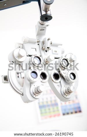 Ophthalmology medical instrument in labor - stock photo