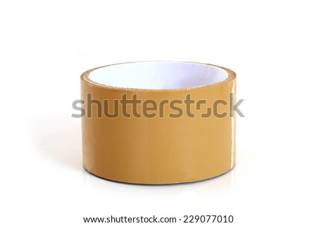 OPP tape on white backgrounds - stock photo