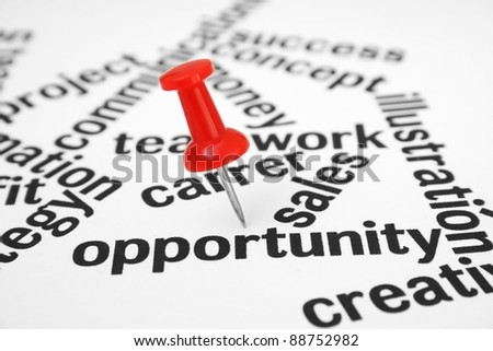 Opportunity - stock photo