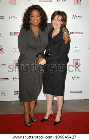 Oprah Winfrey and Anne Sweeney   at The Hollywood Reporter's Annual Women In Entertainment Breakfast. Beverly Hills Hotel, Beverly Hills, CA. 12-05-08