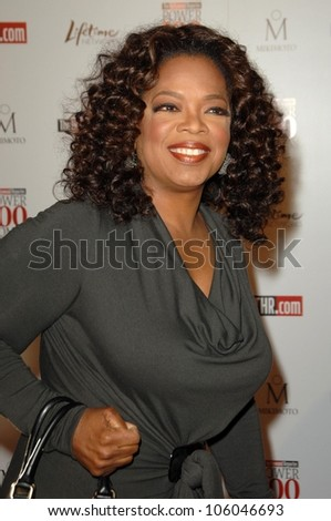 Oprah Winfrey   at The Hollywood Reporter's Annual Women In Entertainment Breakfast. Beverly Hills Hotel, Beverly Hills, CA. 12-05-08