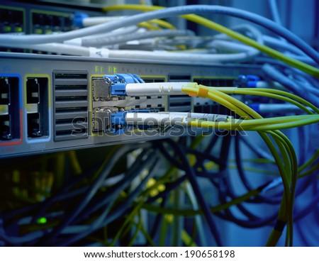 optic fiber - stock photo