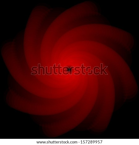 Optical Art Deep Whirl Dark Red and Black