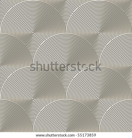 Optical Art Multiple Concentric Circles Light Silver Seamless - stock photo