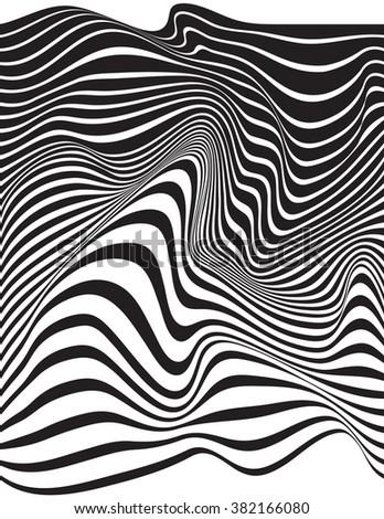 optical art opart striped wavy background jpeg version - stock photo