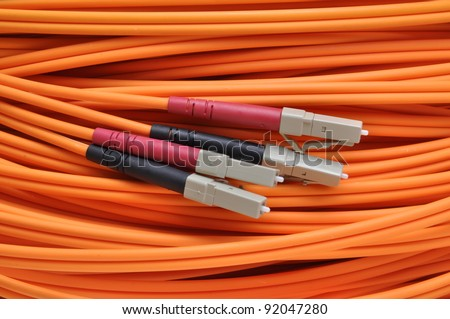 Optical Cable for broadband networks - stock photo