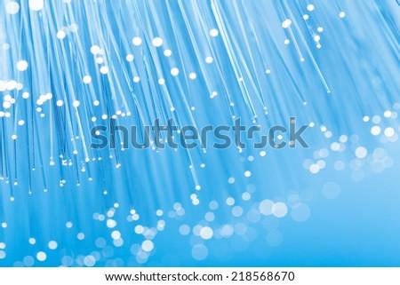 Optical fibre close up - stock photo