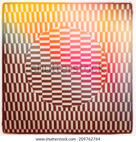 Optical Illusion and color flare - With Instagram effect - stock photo