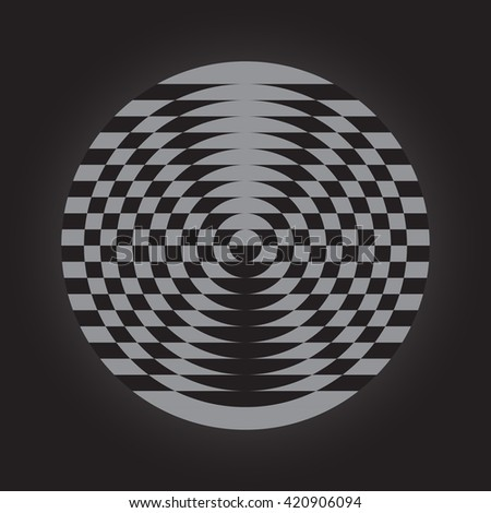 Optical illusion of the gradient, abstract geometric design element, illusion symbols, Impossible sign  - stock photo