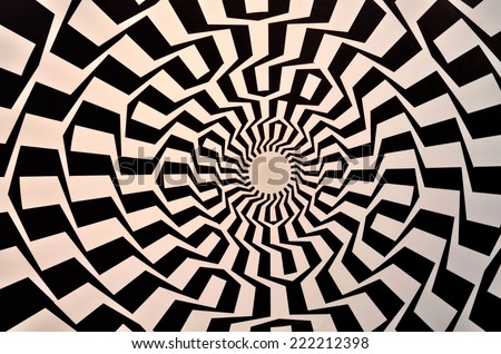 Optical illusion textured geometric seamless background pattern - stock photo