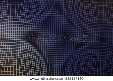 Optical illusion with squares - stock photo