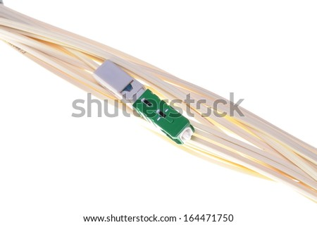 Optical patch cord for passive optical network - stock photo