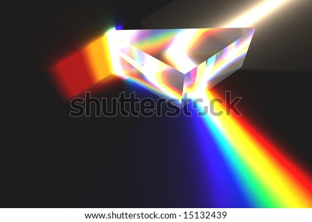 Optical Prism Illustration on black.