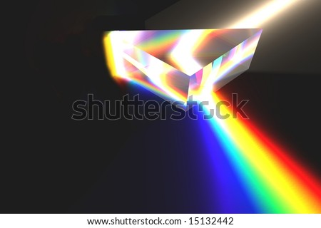Optical Prism Illustration on black. - stock photo