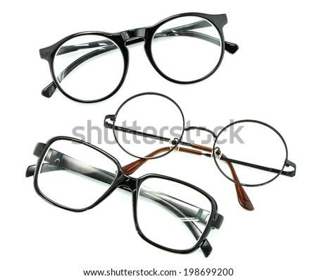 optical vintage glasses isolated  - stock photo