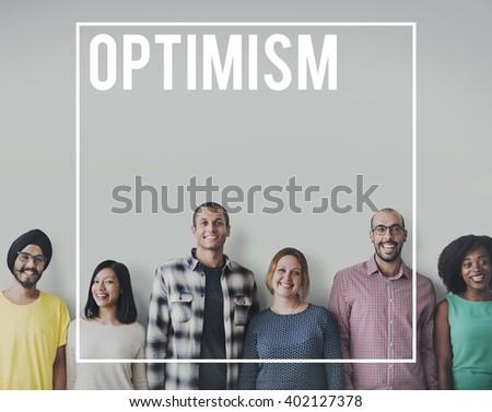 Optimism Optimistic Positive Thinking Attitude Concept - stock photo