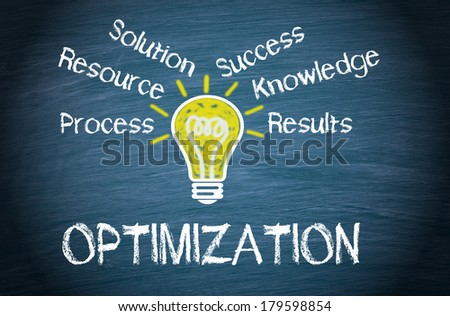Optimization - Business Concept Chalkboard