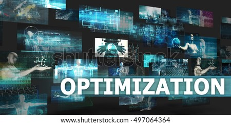 Optimization Presentation Background with Technology Abstract Art 3D Render