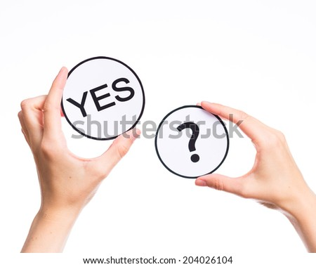 option yes or no  - stock photo